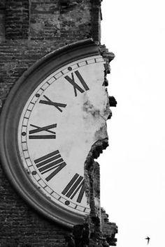 The clock tower of Finale Emilia (near Ferrara), after lthe earthquake of last week in the Italian Emilia-Romagna Region.