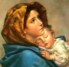 Violeta - Iconografia religiosa - La-Virgen-María-con-el-niño-hermosa2 I Love You Mother, Mother Mary, Mother And Child, Santa Maria, Free Stories, Mary And Jesus, Art Thou, Color Crafts, Madonna And Child