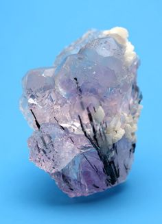 Bismuthinite with Fluorite