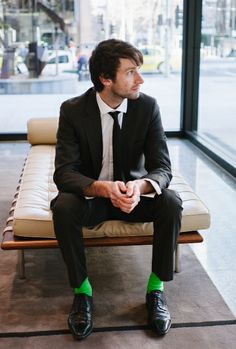 Stand out from the crowd! Make a statement in our green heel & toe socks www.rockmysocks.com