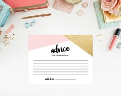 Instant Download  Corners Advice Cards by fineanddandypaperie