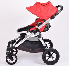 Baby Jogger City Select, Red pushchair | Grade 2 | £219.99 (Typical RRP Brand New: £500) | Refurbished || The adaptable City Select stroller from Baby Jogger offers a number of combinations to suit your family's needs. This compact pushchair is capable of holding either one or two seat units, one or two car seats or one or two carrycots, so is ideal for twins or siblings of different ages! It also comes complete with a back seat storage compartment and large under seat basket.
