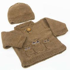 We Like Knitting: Owl Sweater & Hat - Free Pattern