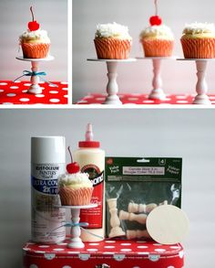 Cute little cupcake stand diy
