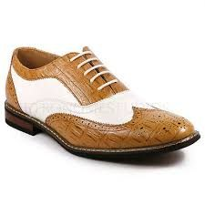 white and tan leather oxford type shoes for men - Google Search Men's Shoes, Dress Shoes, Tan Leather, Men Dress, Oxford Shoes, Lace Up, Type, Google Search, Fashion