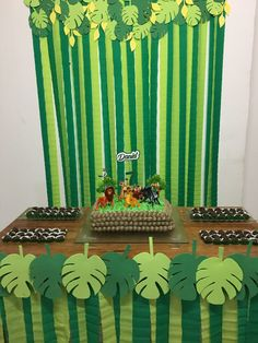 How To Make a Tropical Backdrop How To Make a Tropical Ba. - How To Make a Tropical Backdrop How To Make a Tropical Ba… - Jungle Theme Birthday, 2nd Birthday Party Themes, Moana Birthday Party, Kids Party Themes, Dinosaur Birthday Party, Birthday Party Decorations, Jungle Decorations, Luau Party, 9th Birthday