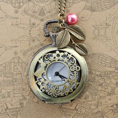 Alice in wonderland Pocket Watch Necklace, My Unique Style, Pocket Watch Antique, Steampunk Wedding, Cute Jewelry, Making Ideas, Antique Jewelry, Fashion Accessories, Jewelry Making