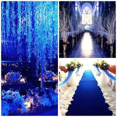 OMG OMG OMG!!! this is how i want my wedding to look like with my sapphire blue and white!!!