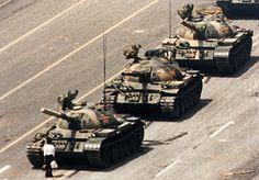 Protester at Tiananmen Square, who can ever forget this image?