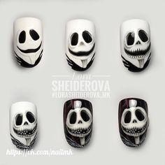 10 Impressive Nails Design For The Halloween Fanatic Nail Line Uñas Disney Halloween, Nail Art Halloween, Halloween Nail Designs, Diy Nail Designs, Winter Nail Designs, Art Designs, Love Nails, Fun Nails, Pretty Nails
