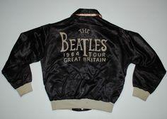 VINTAGE THE BEATLES TOUR OF GREAT BRITAIN '64 JACKET 1964 1960'S L ORIGINAL RARE