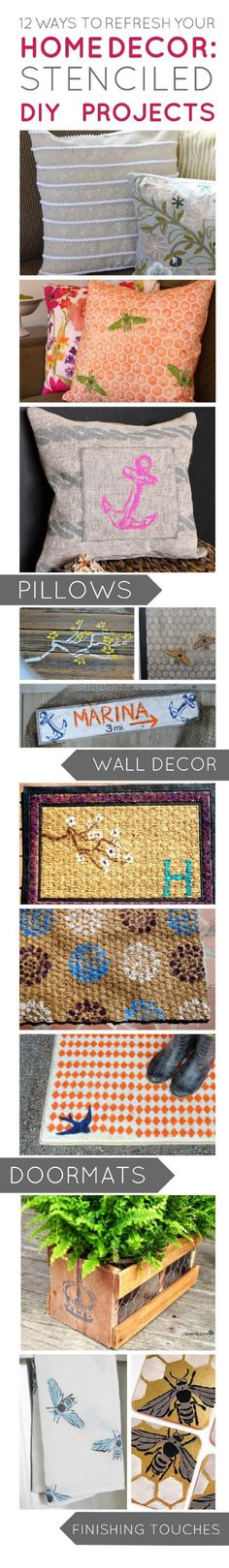 12 #DIY Home Decor Projects using @E D Roth / Stencil1 at Joann.com or Jo-Ann Stores