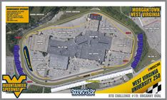 RTD#19 - 1.25m Speedway around shopping mall in Morgantown, West Virginia : RaceTrackDesigns Race Tracks, Design Guidelines, Media Center, The Other Side, Shopping Mall, West Virginia, Great Places, Maid, Morocco