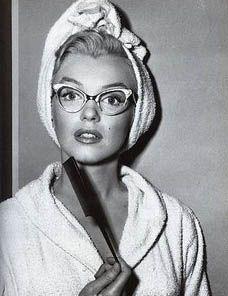 Marilyn Monroe...cat eye glasses :)