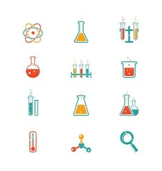 Chemistry icons vector by neyro2008 on VectorStock®