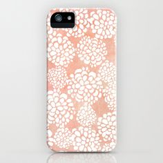 Pink Dahlias iPhone & iPod Case