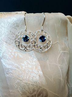 As Seen in Women in the Arts Mystic Blue Topaz Earrings Gems
