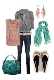 Such an adorable outfit, if its cold in the morning and warmer during the day then this would be fabulous!