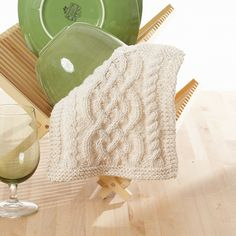 Favorite summer crocheting/knitting pattern: Ravelry: Celtic Cables Dishcloth pattern by Lily / Sugar'n Cream Knitted Washcloths, Crochet Dishcloths, Knit Or Crochet, Knitting Patterns Free, Knit Patterns, Free Knitting, Free Pattern, Pattern Ideas, Cable Knitting