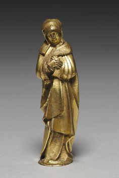 Mourning Virgin, late 1400s Germany, Franconia, late 15th century gilt bronze, Overall: h. 10.20 cm