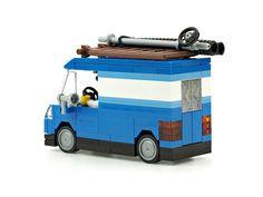 Transporter Van, Cool Lego Creations, City Style, Lego City, Legos, Rues, Dolls, Doll Houses, Vehicles