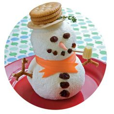 Frosty the Cheeseball. I made this for my daughters Winter ONEderland party last December. Definitely a tasty hit for all ages! #snowman #onederland