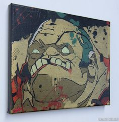 How cool would that be on your wall.  Pudge Canvas Print 8x10 from DOTA2 by Newch on Etsy, $25.00