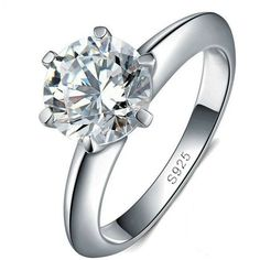 Solitaire 6 Prong Setting Classic Ring