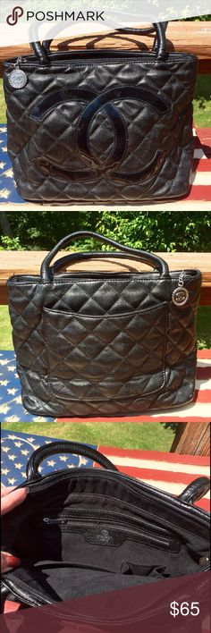 Chanel Paris shoulder bag  Very nice hand bag in like new condition 8in strap / large outside pocket. And two inside pockets. And large Zipper pocket inside. It's a very soft bag and the lining on the inside is very soft. So ladies make me some offers  Chanel Paris Bags Shoulder Bags