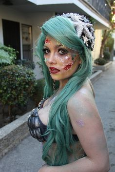 Maddie has decided that she wants to be a zombie mermaid for Halloween.