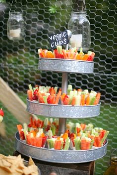 Veggie Cups | Fruit & Veggie Trays That are Perfect for Weddings