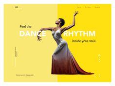 Dance academy website interactions tubik