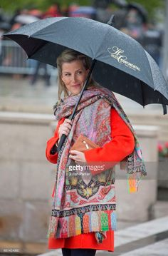 Sophie, Countess of Wessex, leaves to attend a lunch on the Norwegian Royal Yacht 'Norge' as part of the celebrations of the 80th Birthdays of King Harald of Norway and Queen Sonja of Norway on May 10, 2017 in Oslo, Norway.  (Photo by Julian Parker/UK Press via Getty Images)