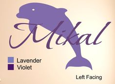 """Personalized Dolphin Monogram #1 Wall Decal , Unicorn Wall Decal, Personalized Wall decal,Personalized Name Decals ,Custom vinyl decal,. 18""""W x 12"""" The high is the Unicorn and the width is the width of the name... Sizes of Dolphin for each Size 12"""" Design is 12""""H x 13.5""""W, 18"""" Size is 18""""H x 20""""H, 24"""" Size is 24""""H x 27""""W This Vinyl Monogram is the best and easiest way to decorate any room or surface in your home. You get the look of an expensive hand painted stencil for a fraction of the..."""