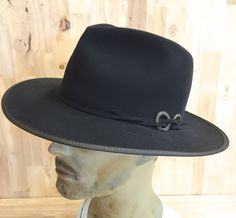 b0b9892af724b SOLD 100% beaver fur felt graphite fedora with antique patina brass  findings by hatWRKS on