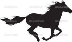 shutterstock silhouettes of horses running | running-horse-silhouette-vector-depositphotos_5267005-Horse-silhouette ...