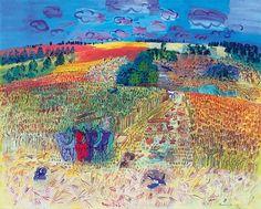 """Raoul DufyLlega a Madrid la magnífica retrospectiva que el Museo Thyssen-Bornemisza le dedica a Raoul Dufy: 93 piezas, principalmente óleos, pero también dibujos y acuarelas, así como diseños en tela y cerámicas, que reflejan con esplendor que es """"el pintor de la luz del color""""."""
