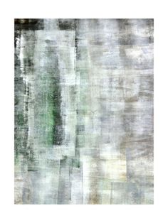Green and White Abstract Art Painti