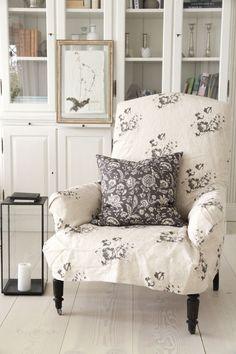 Cabbages & Roses | Kuddfodral French Toile Black | Matilde & Co | Handla online