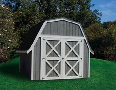 Perfect Midwest Manufacturing EZ Build 12u0027W X 16u0027D Gambrel Storage Building
