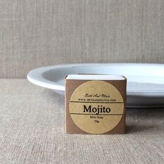 Mojito Mini Guest SoapA refreshing mini soap for your guests, gift giving, or just for treating yourself. High grade peppermint and lime essential oils are added for its healing properties. White kaolin clay is added to gently absorb impurities from skin. These little soaps are tiny and measures 3x3x2cm and are:GMO FreeHypo-AllergenicNon-ComedogenicBiodegradableNo DetergentsNo SurfactantsNo SulfatesNo AlcoholNo Sugar SolutionsNo Animal TestingNo Anima...