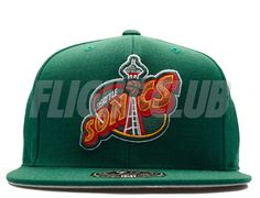 Seattle Supersonics HWC High Crown Fitted Baseball Cap by MITCHELL & NESS x NBA