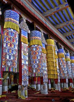 Chanting Hall, Drepung Monastery in Tibet