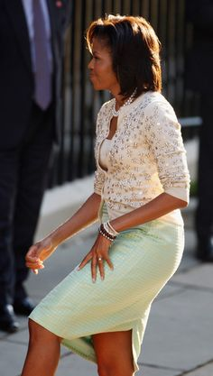 Michelle Obama- love this outfit!