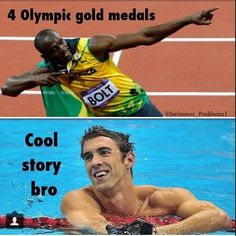 Michael Phelps has 22 medals in total......... good job Usain Bolt