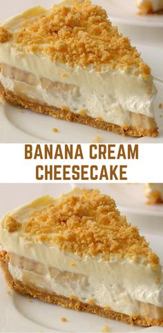 You will need: 20 nilla wafers ¼ cup butter, melted 24 oz cream cheese, softened cup sugar Banana Recipes, Brownie Recipes, Cake Recipes, Dessert Recipes, No Bake Desserts, Just Desserts, Delicious Desserts, Banana Cream Cheesecake, Cheesecake Bars