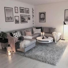 Wohnzimmer Wohnzimmer The post Wohnzimmer & Wohnung appeared first on Living room decor . Cozy Living Rooms, Living Room Grey, Home Living Room, Apartment Living, Living Room Designs, Apartment Entryway, Apartment Furniture, Modern Apartment Decor, Apartment Design