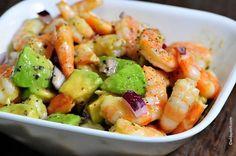 Shrimp Avocado Salad | ©addapinch.com