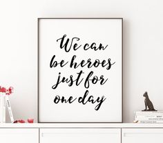 Anniversary Gift For Him DAVID BOWIE Inspirational by TheCasaNova