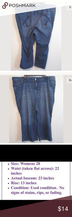 Lane Bryant Medium Wash Stretch Jean Capris 28 Lane Bryant Medium Wash Stretch Capris Cropped Denim Jeans Pants Plus 28 Lane Bryant Jeans Ankle & Cropped